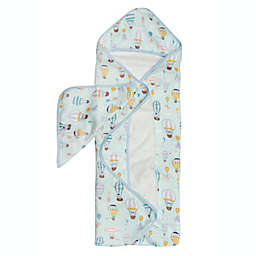 Loulou Lollipop 2-Piece Up Up Away Hooded Towel and Washcloth Set