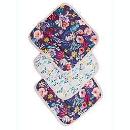 Loulou Lollipop 3-Pack Dark Fields Flowers Washcloths