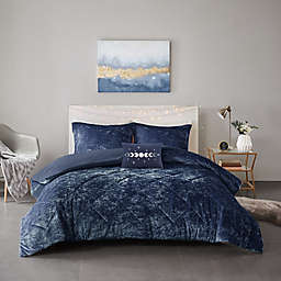 Intelligent Design Felicia 4-Piece Full/Queen Duvet Cover Set in Navy