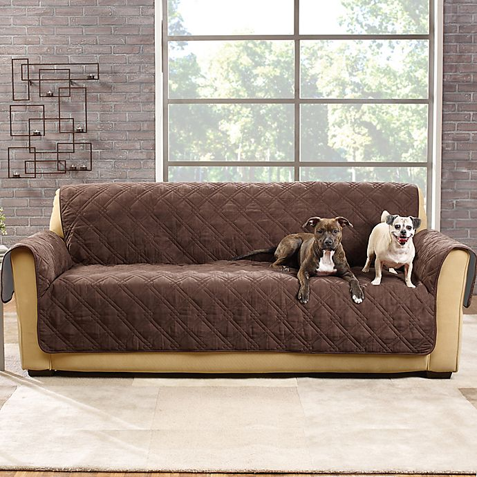 Alternate image 1 for Sure Fit® Pet Protector Suede-Like Furniture Cover Collection