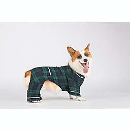 Bee & Willow™ Home Flannel Medium Dog Pajamas in Blue/Green Plaid