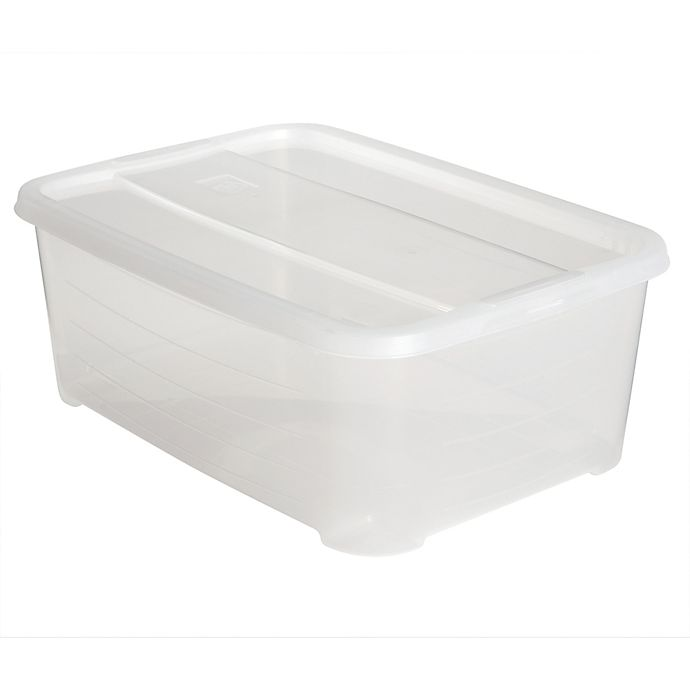 Alternate image 1 for Simply Essential™ Large Stackable Shoe Boxes (Set of 4)