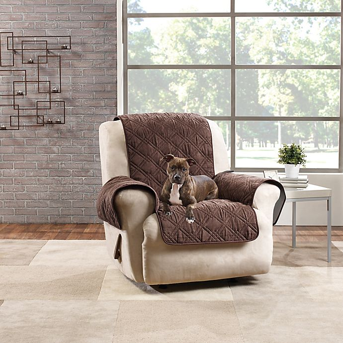 Alternate image 1 for Sure Fit® Quilted Pet Recliner Cover