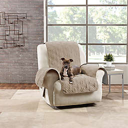 Sure Fit® Quilted Pet Recliner Cover in Taupe