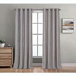 Therapedic® Baldwin 63-Inch Grommet 100% Blackout Window Curtain Panel in Indigo