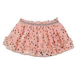 Baby Starters® Tutu Skirt with Foil Floral Print in Pink/Rose Gold