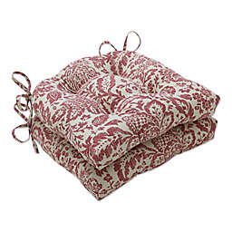 Fairhaven Reversible Chair Pad in Red (Set of 2)