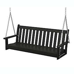 POLYWOOD® Vineyard Garden Porch Swing in Black