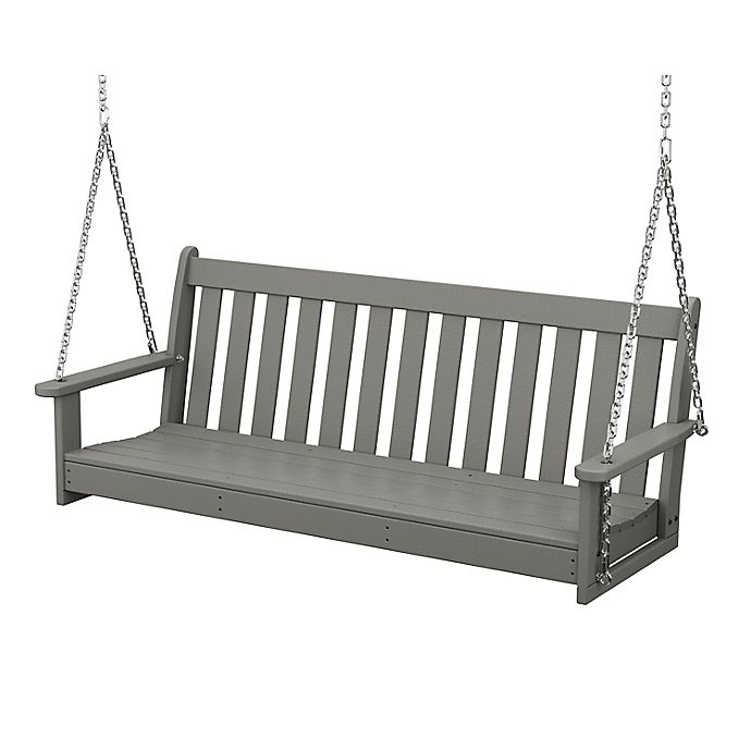 Alternate image 1 for POLYWOOD® Vineyard Garden Porch Swing in Slate Grey