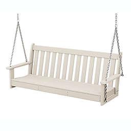 POLYWOOD® Vineyard Garden Porch Swing in Sand