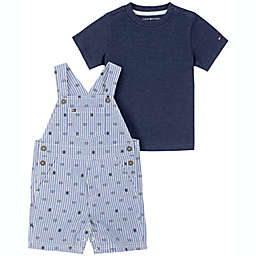 Tommy Hilfiger® Size 18M 2-Piece Stripe Shortall and Shirt Set in Blue