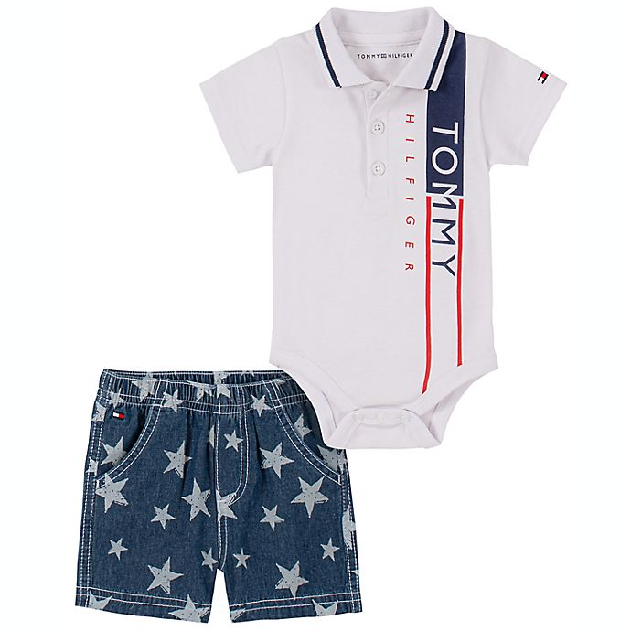 Alternate image 1 for Tommy Hilfiger® 2-Piece Polo Shirt and Short Set