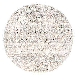 nuLOOM Contemporary Brooke Shag 6' Round Rug in Off-White