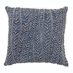 Bee & Willow™ Home Embroidered Leaf Acid Square Throw Pillow in Blue