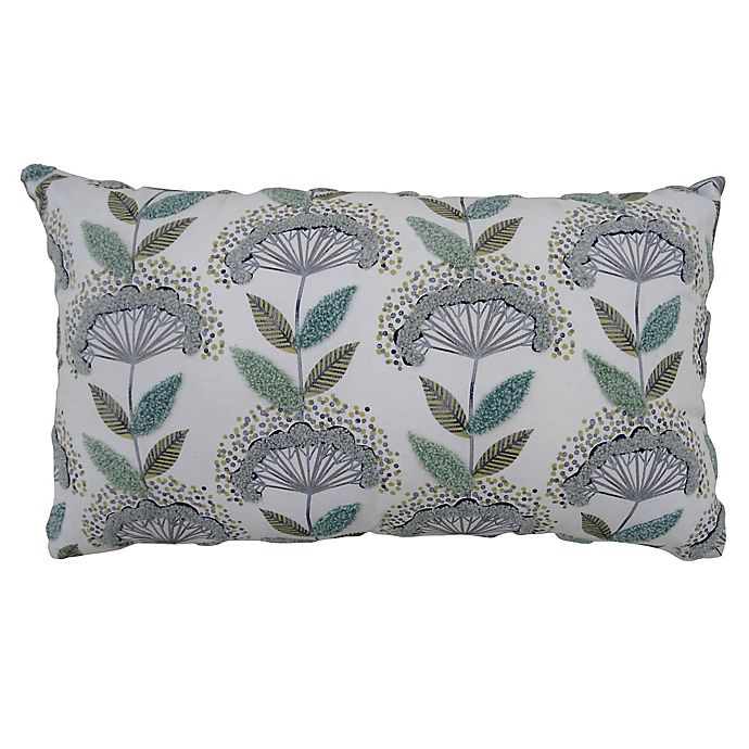 Alternate image 1 for Bee & Willow™ Home Floral Oblong Throw Pillow