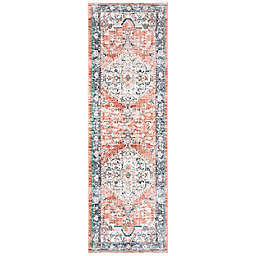 nuLOOM Vintage Zara Medallion 2' x 8' Runner in Orange