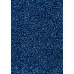 nuLOOM Marleen Plush Shag 12' x 18' Area Rug in Blue