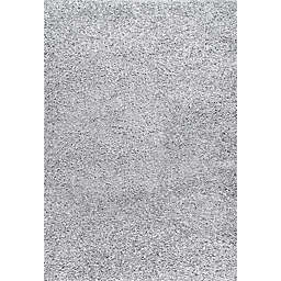 nuLOOM® Marleen 6'7 x 9' Plush Shag Area Rug in Light Grey
