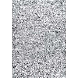 nuLOOM® Marleen 8' Square Plush Shag Area Rug in Light Grey