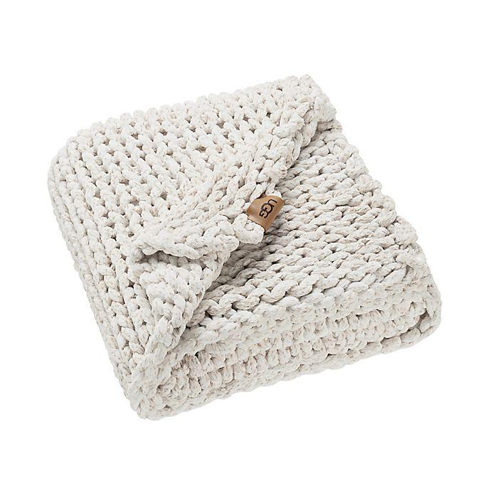 Alternate image 1 for UGG® Keynot Throw Blanket in Jasmine