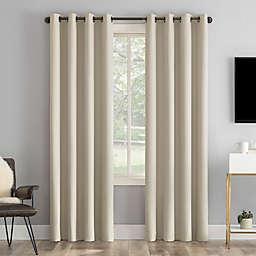 Sun Zero® Tyrell Tonal 63-Inch Grommet 100% Blackout Curtain Panel in Ecru (Single)