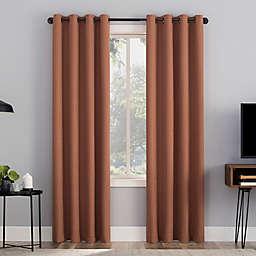 Sun Zero® Channing Grid 63-Inch Grommet 100% Blackout Curtain Panel in Terracotta (Single)