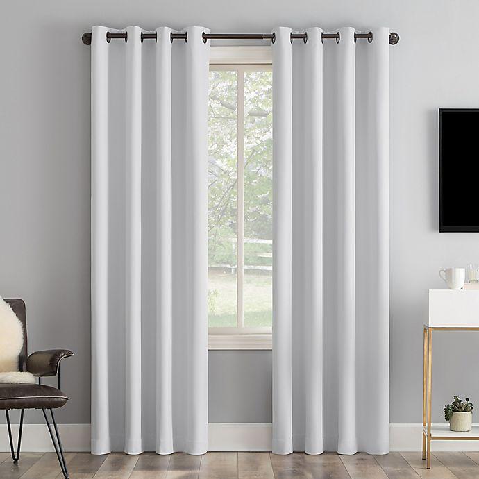 Alternate image 1 for Sun Zero® Tyrell Tonal Draft Shield Insulated 100% Blackout Curtain Panel (Single)