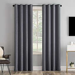 Sun Zero® Tyrell Tonal 96-Inch Grommet 100% Blackout Curtain Panel in Sterling (Single)