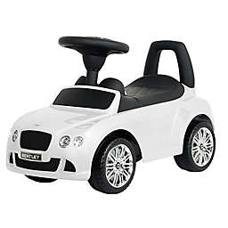Evezo Bentley Continental GT Ride-On Push Car in White