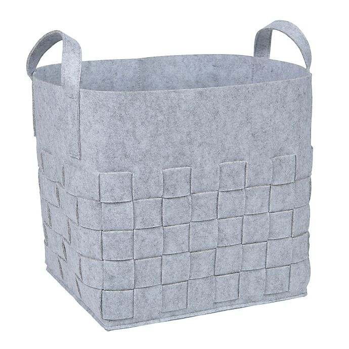 Alternate image 1 for Sammy & Lou Woven Felt Storage Cube in Light Grey