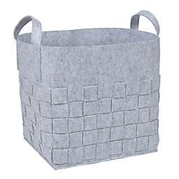 Sammy & Lou Woven Felt Storage Cube in Light Grey