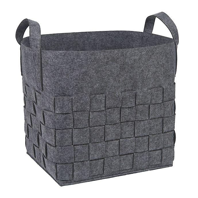 Alternate image 1 for Sammy & Lou Woven Felt Storage Cube in Medium Grey