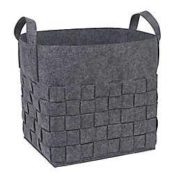 Sammy & Lou Woven Felt Storage Cube in Medium Grey