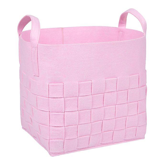 Alternate image 1 for Sammy & Lou Woven Felt Storage Cube in Pink