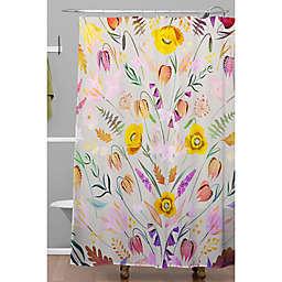 Deny Designs 71-Inch x 74-Inch Iveta Abolonia Poppy Meadow IV Multicolor Shower Curtain