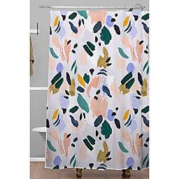 Deny Designs 71-Inch x 74-Inch Camarasa Terrazzo Brushstrokes Shower Curtain