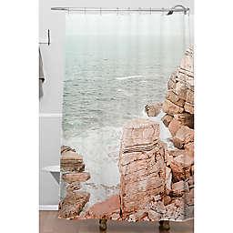 Deny Designs 71-Inch x 74-Inch Rocky Coastline Shower Curtain in Orange