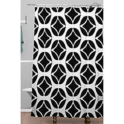 Deny Designs 71-Inch x 74-Inch Allyson Johnson Bohemian Mod Black Shower Curtain in Black/White