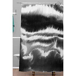 Deny Designs 71-Inch x 74-Inch Jacqueline Maldonado Ombre Wave Shower Curtain in Black