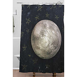 Deny Designs 71-Inch x 74-Inch Paper Moon Shower Curtain in Blue