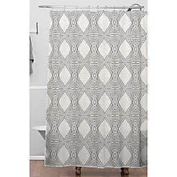 Deny Designs 71-Inch x 74-Inch Playa Diamond Shower Curtain in Black
