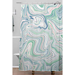 Deny Designs 71-Inch x 74-Inch Marble Shower Curtain in Green