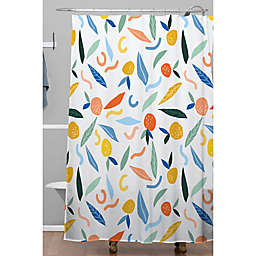 Deny Designs 71-Inch x 74-Inch Fruit Shower Curtain in White
