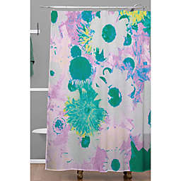 Deny Designs 71-Inch x 74-Inch Ophelia Floral Shower Curtain in Purple