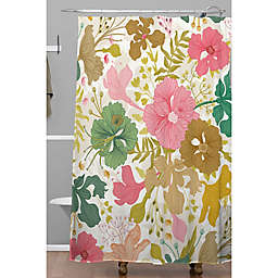 Deny Designs 71-Inch x 74-Inch Mom's Garden Floral Shower Curtain in Brown