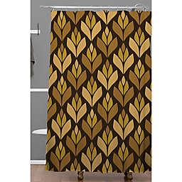 Deny Designs 71-Inch x 74-Inch Retro Trefoil Shower Curtain in Brown