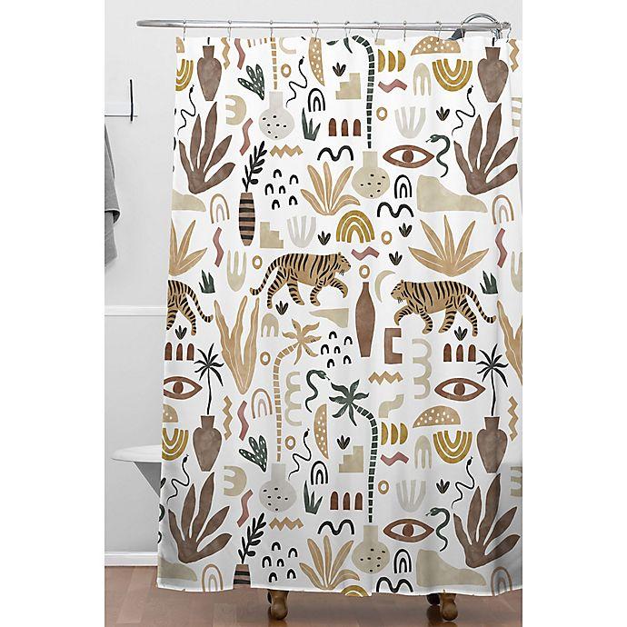 Alternate image 1 for Deny Designs Mara Barragan Camarasa Wilde Desert Shapes II Shower Curtain in White