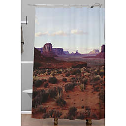 Deny Designs 71-Inch x 74-Inch Kevin Russ Monument Valley View Shower Curtain in Blue