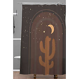 Deny Designs 71-Inch x 74-Inch Iveta Abolina Desert Moon Phase II Shower Curtain n Brown