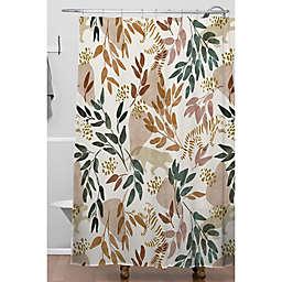 Deny Designs 71-Inch x 74-Inch Marta Barragan Camarasa Wild Land I Shower Curtain in White